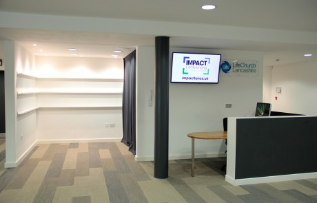 Retail area and Reception